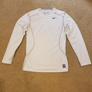 Nike Pro Combat Dry fit, white. Size S